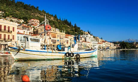 The old fishing harbour in Gytheio, Peloponnes, Greece