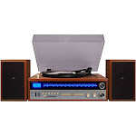 Crosley - 1975T Bluetooth Stereo Audio System - Silver/Gold/Brown/Black