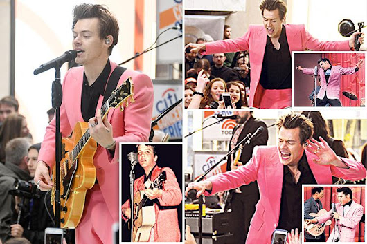 Harry Styles channels Elvis Presley during performance of his single Sign of the Times ahead of album release