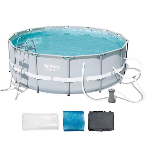 Power Steel Frame Pool Set - 14 Foot x 48 inch - Google Express