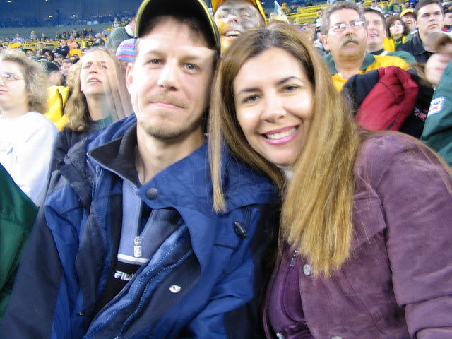 Matt and Andrea at Packer Game, 10.24.04