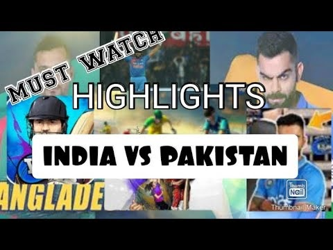 IND VS PAK || cricket match highlights || India win || must watch ||