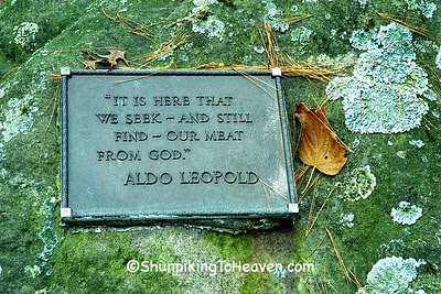 Words from A Sand County Almanac, Leopold Memorial Reserve, Sauk County, Wisconsin