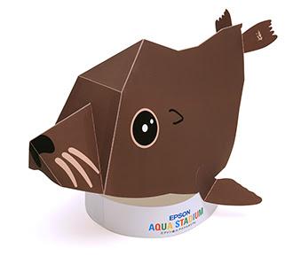 Sea Lion Papercraft Hat