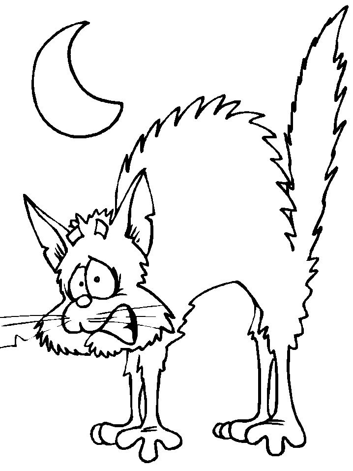 scaredy cat | Halloween coloring pages | Pinterest
