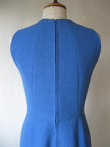 Blue vintage dress back closeup