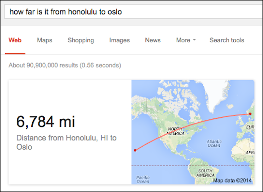 "Google's Latest Search Trick: ""As The Crow Flies"" Distance Calculation"