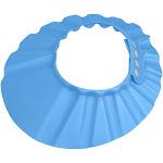 Evelots Shampoo Bath Cap Baby/Child-Safe Visor Adjustable Protector, Blue