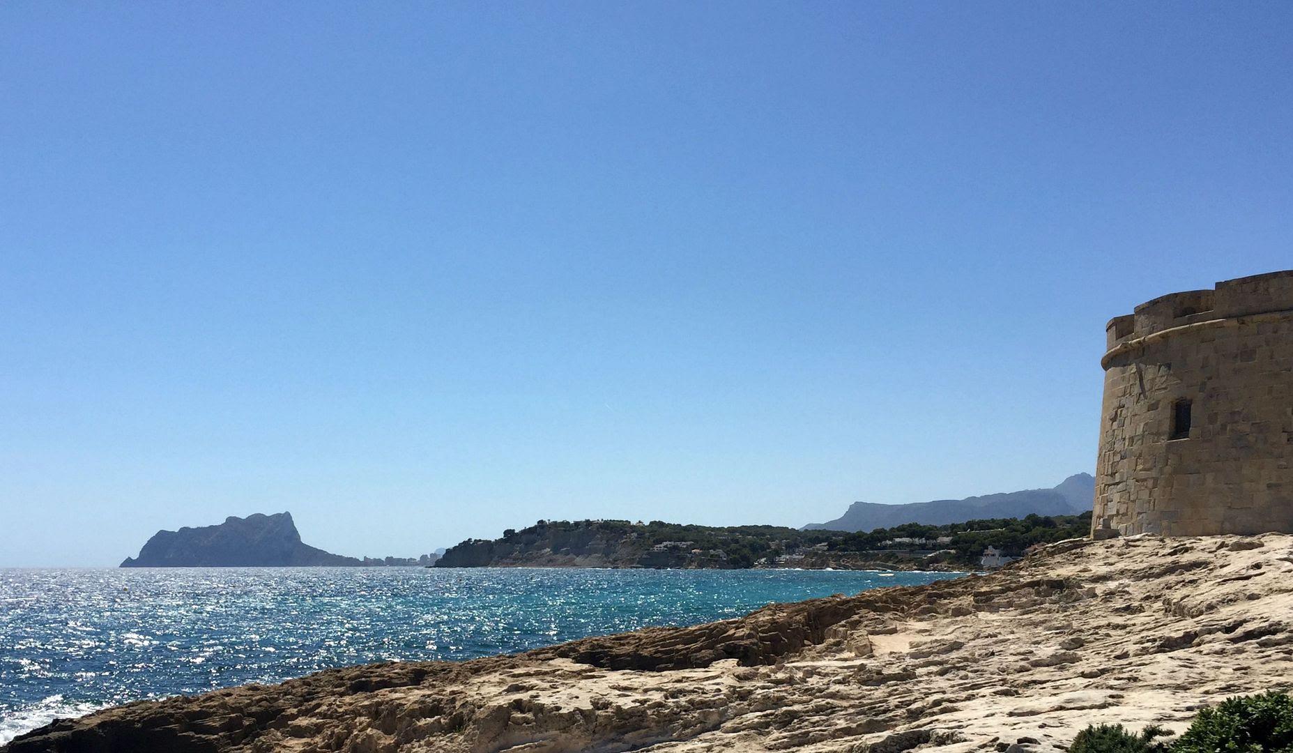 Moraira beach, costa blanca