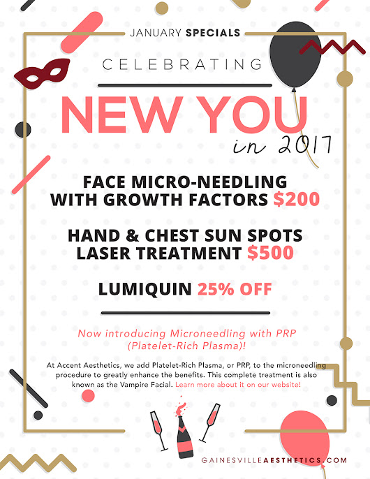Celebrate New You in 2017! January MedSpa Specials