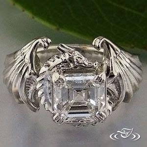 Dragon Ring   Custom Platinum Dragon Mounting. With