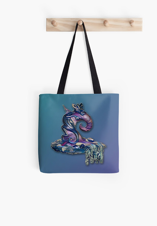 'Baby Bat Dragon' Tote Bag by Cindi Hardwicke