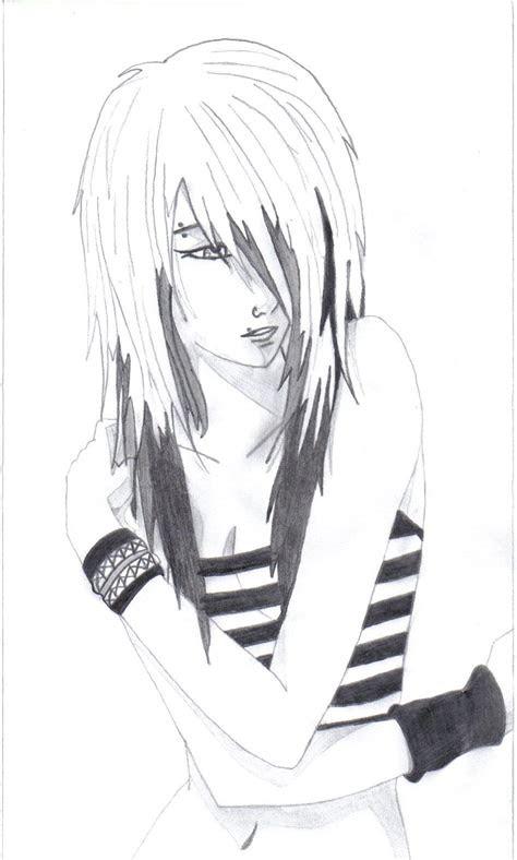 anime drawings emo anime love drawings anime
