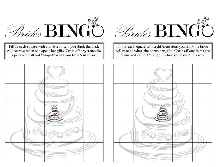 Free Bridal Shower Printable Bingo Cards - Wedding Invitation Sample