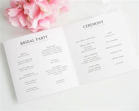7 Wedding Programs Ideas Your Guests Will Remember