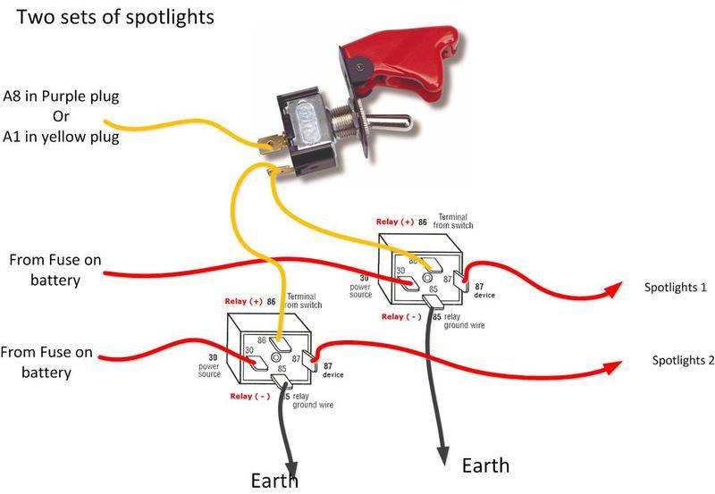 Wiring Car Spotlight Diagram