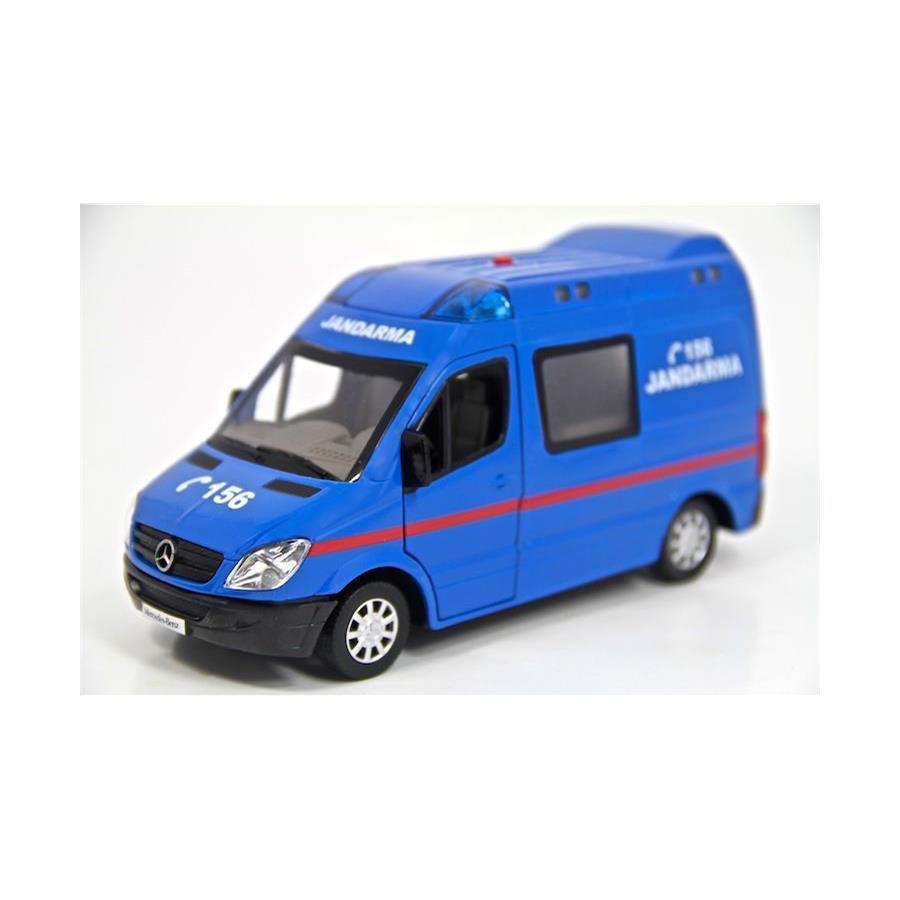132 Metal Jandarma Minibüsü Işıklı Ve Sesli çek Bırak özellikli