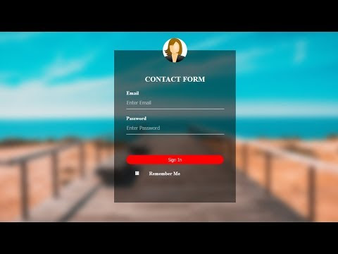 Transparent HTML Login Form with Blur Background
