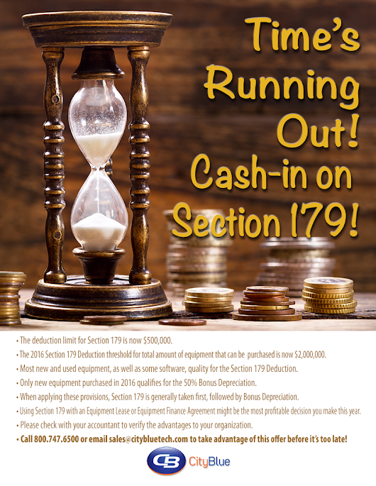 Cash-in on Section 179!
