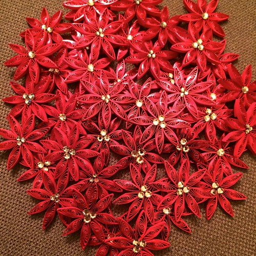 Quilled Poinsettias