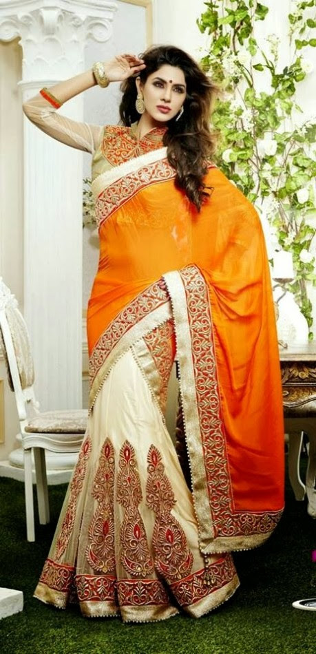 Bridal-Wedding-Rich-Heavy-Embroidered-Sarees-Designs-Lehanga-Style-Fancy-Sari-New-Fashion-12
