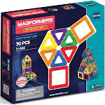 Magformers Magnetic Power Magic Rainbow Set - 30 Piece