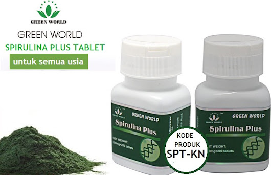 Spirulina Plus Tablet Green World Indonesia | PLUS KHASIATNYA
