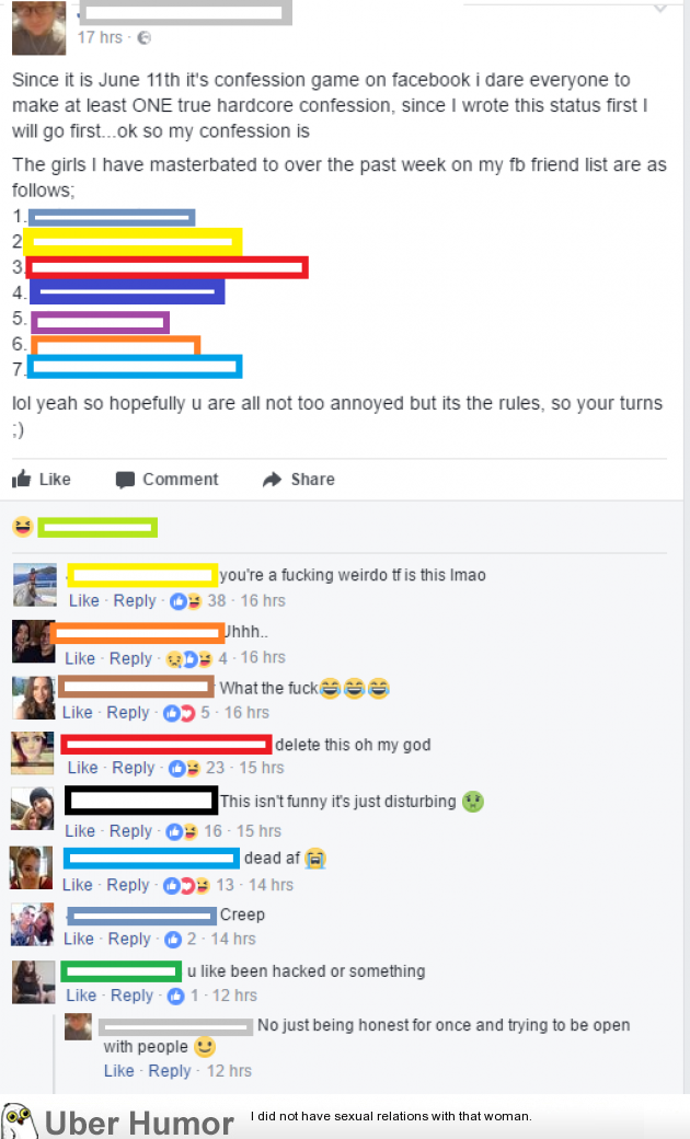 Cringe Worthy Guy Actually Tagged Girls Hes Fapped To In A Status