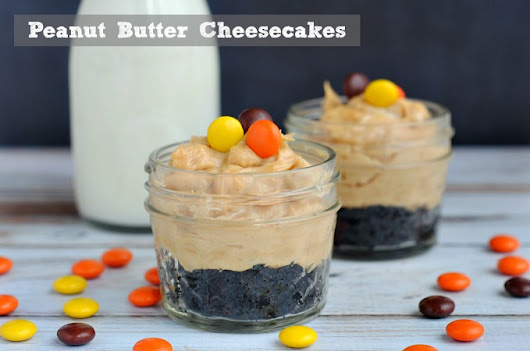 Mini Peanut Butter Cheesecakes in Jars Recipe - The Rebel Chick