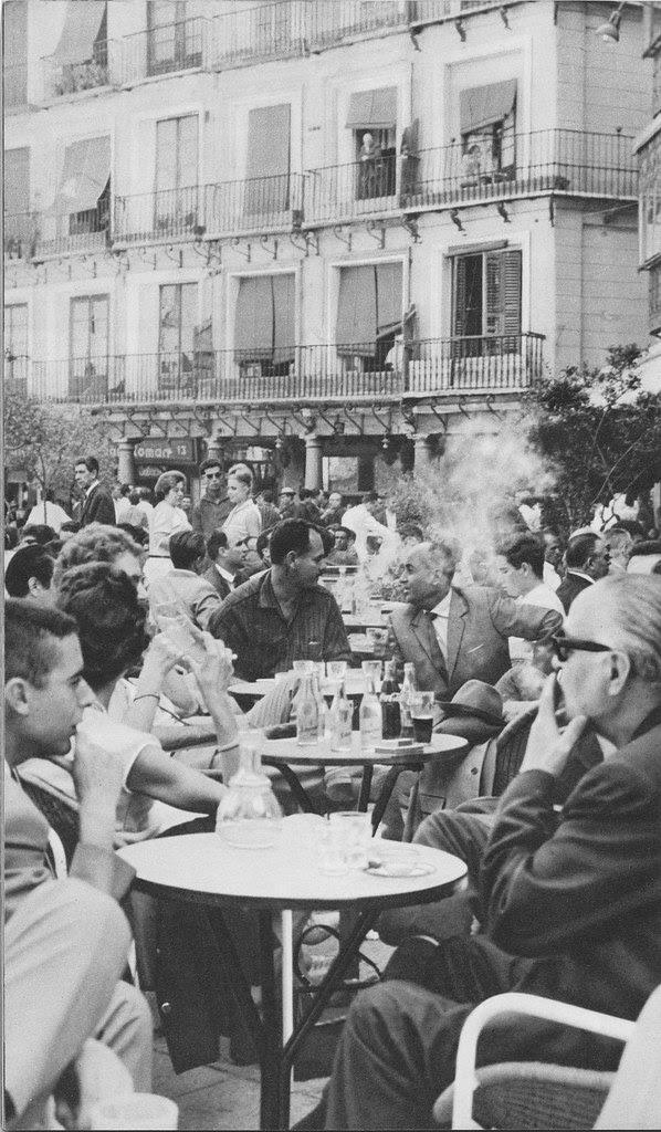 Terraza del Café Español de Toledo. Años 60