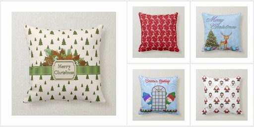 Christmas and Holiday Accent Throw Pillows