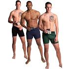 Stashitware Stash Pocket Boxer Brief Variety 3 Packs Men's Black, Blue, Green