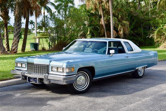 1976 Cadillac Coupe DeVille For Sale Delray Beach, Florida