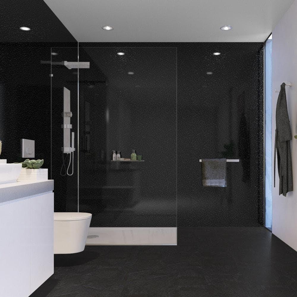 Black Diamond 25cm x 270cm Wet Wall Panel - Wet Walls ...