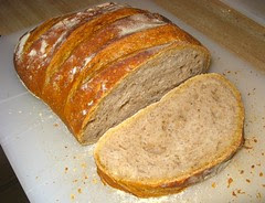 Peasant-style loaf with wheat germ.