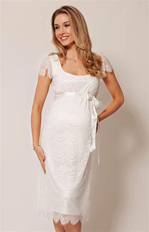 Flutter Maternity Dress Ivory   Maternity Wedding Dresses