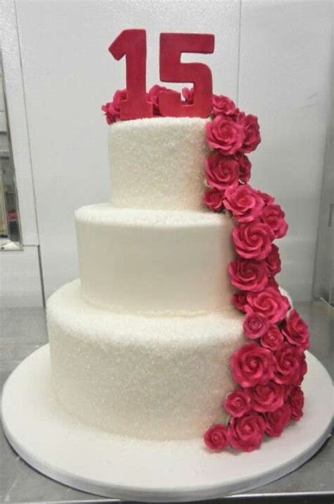 Cute Sweet 15th birthday cake   CAKES   Pinterest