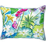 Betsy Drake Wild Garden Large Pillow 16x20 HJ826
