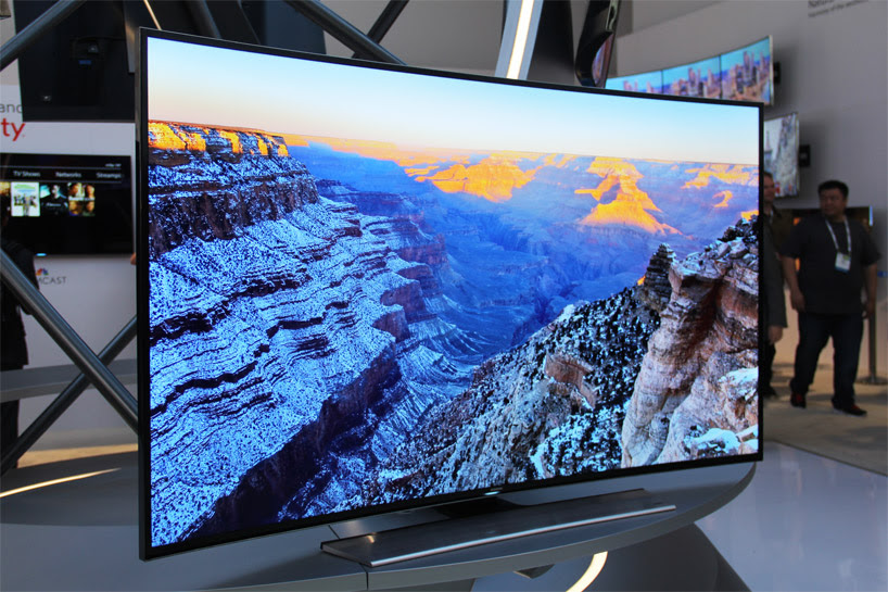 samsung debuts world's first curved UHD TV at CES