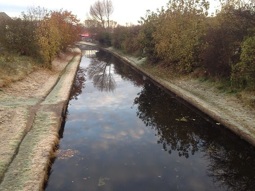 Frosty towpath