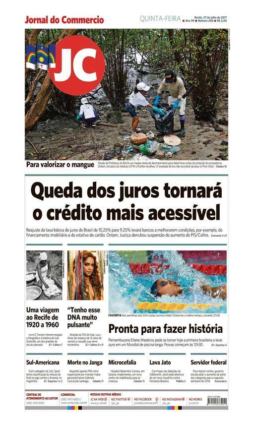 Capa do Jornal - 27/07/2017