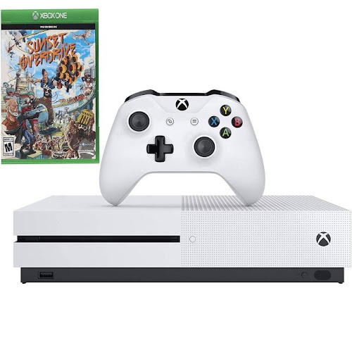 Microsoft Xbox One S 1TB White Console & Sunset Overdrive Video Game Bundle XboxOneS-1TB-Sunset-BNDL