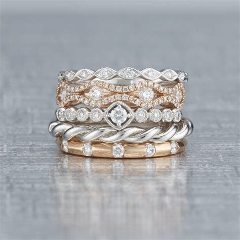 We just can't get over the beauty of these stackable rings