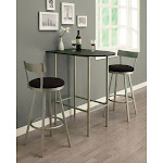 """Porch & Den Lochwood Donore Black/ Silver Metal Bar Table, Size: 24"""" x 36"""""""
