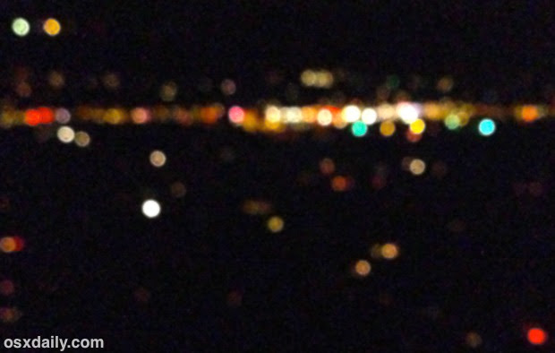 Night bokeh photography with iPhone