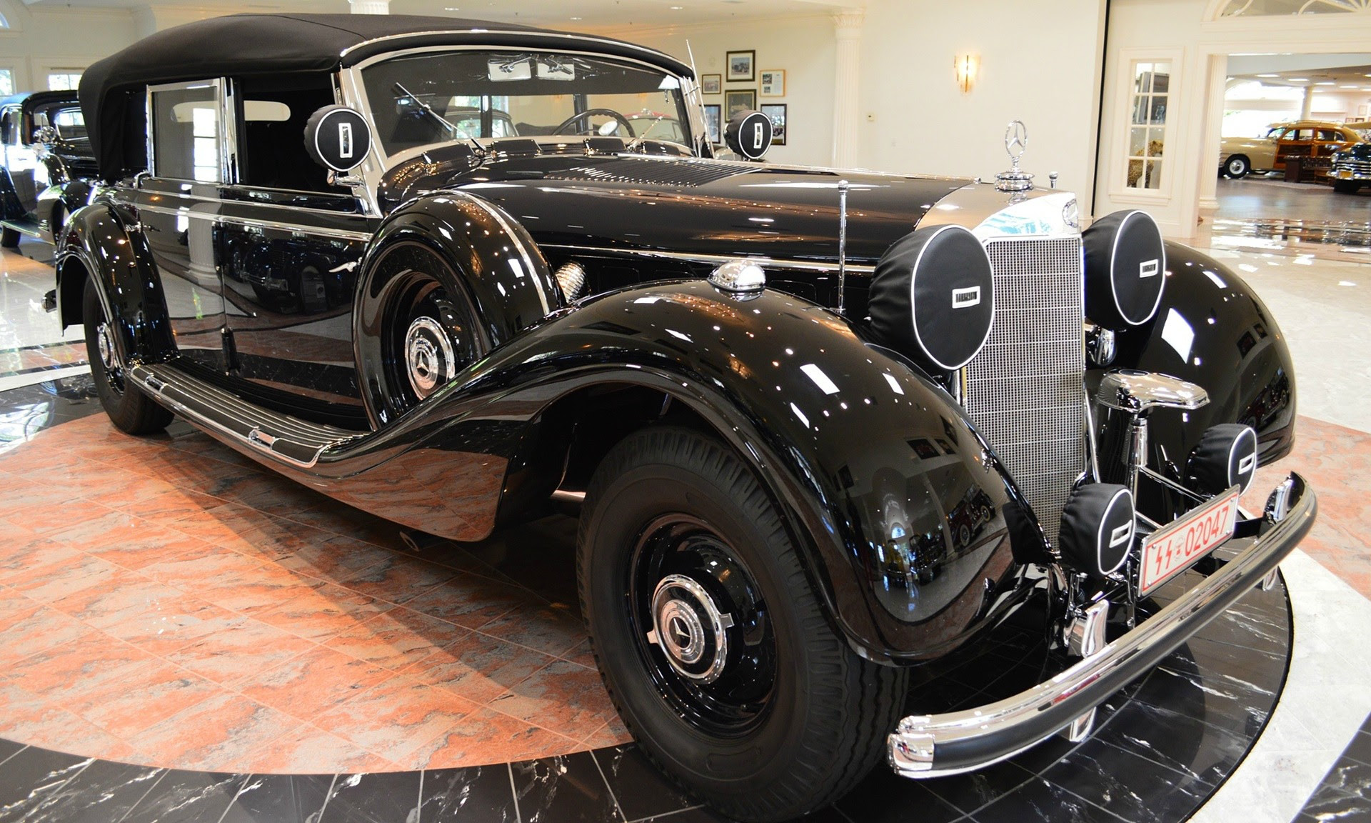 Hitler's car. The 20ft Mercedes-Benz that conveyed the ...