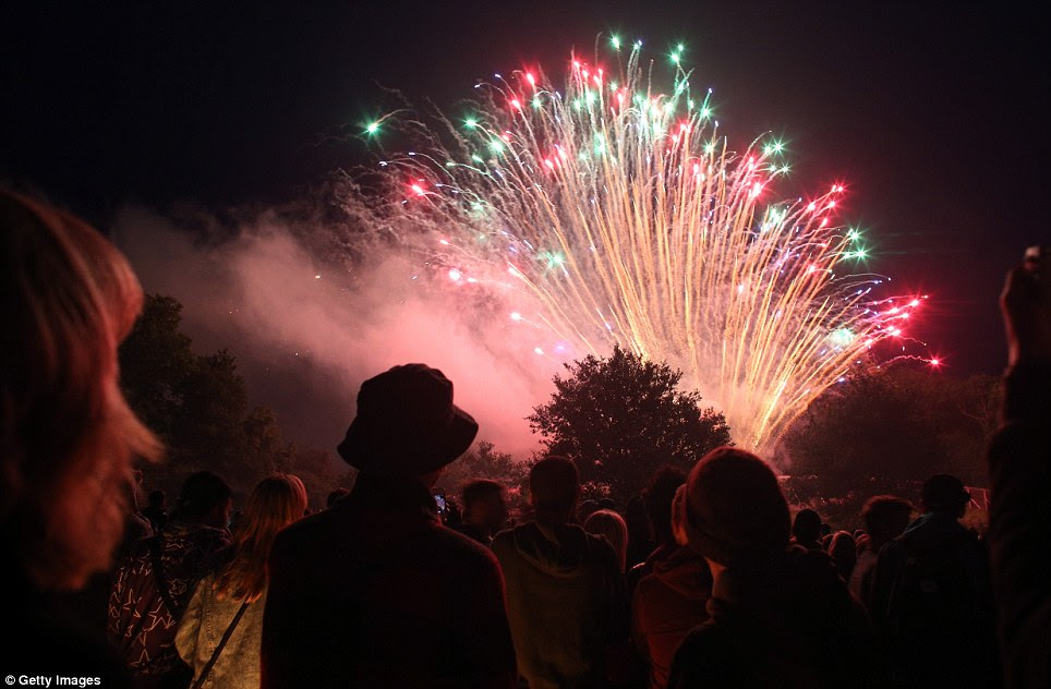 Image result for glastonbury fireworks