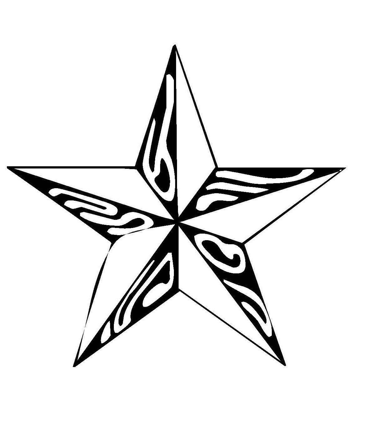 Kostenlose Malvorlage Schneeflocken und Sterne: Stern 6 ...