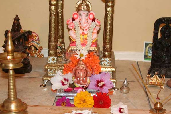 ganesh  chaturthi  at home  Lovely Telugu