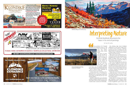 Recent article in the Yukon, North of Ordinary' magazine, May 2016